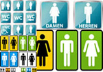 Link toMale and female toilet sign vector