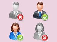 Man woman avatars vector free