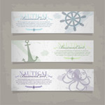 Link toMarine elements banner vector