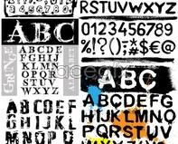 Mark english alphabet fonts letters vector