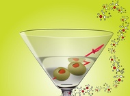 Martini cocktail vector free