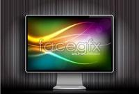 Matrix computer monitor vector