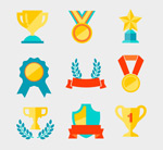 Link toMedals and trophies designs vector