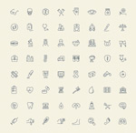 Link toMedical device icons vector