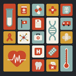 Link toMedical element icons vector