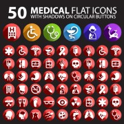 Link toMedical flat icon vector pack free