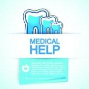 Link toMedical help design elements vector background 01
