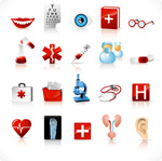 Link toMedical tool icon vector