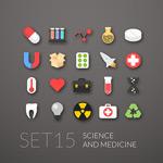 Medicinal chemistry icon vector