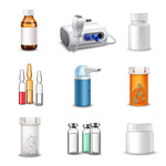 Link toMedicine bottle icons vector