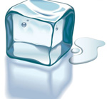 Link toMelting ice cubes vector