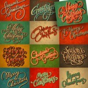Link toMerry christmas calligraphic typographic vector template 01