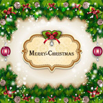 Link toMerry christmas poster 2 vector