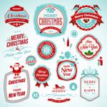 Link toMerry christmas tag vector
