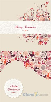 Link toMerry christmas vector vintage design