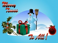 Link toMerry christmas wishes vector free