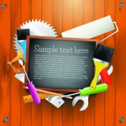 Link toMessage board and carpentry tools backgrounds 04 vector