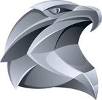 Link toMetallic eagle head vector