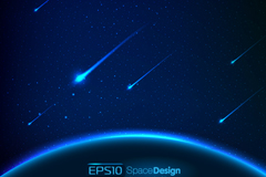 Link toMeteor fantasy space background vector