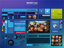Link toMetro tiles ui kit (psd)