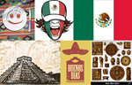 Mexico theme stuff vector