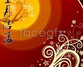 Link toMid-autumn moon poster vector-1