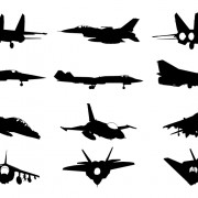 Link toMilitary plane silhouette vector pack free