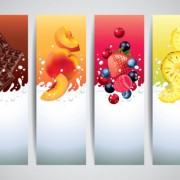 Link toMilk drinks banner creative vector free