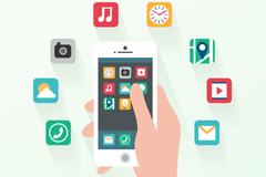 Mobile application interface vector