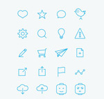 Mobile web icons vector