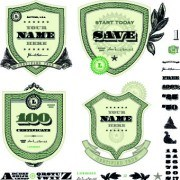 Link toMoney template and label design vector 03