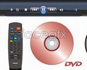 Link toMonitor, remote control, dvd disc vector