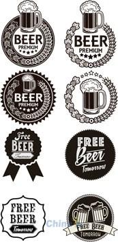 Link toMonochrome vector beer label design