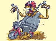Link toMonster on bike vector free