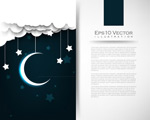 Link toMoon and stars backgrounds vector
