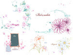 Link toMorning glory with daisies vector