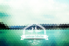 Link toMosaic of lakes landscape vector