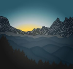 Link toMountain scenery of the sunrise vector