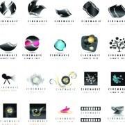 Link toMovie film elements logos vector