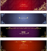 Link toMulti color pattern banner vector