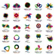 Link toMulticolor abstract creative logos vector