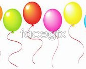 Link toMulticolor balloons vector