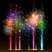 Link toMulticolor fireworks holiday vector 02
