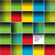 Link toMulticolor squares creative background vector set 01 free