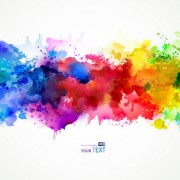 Link toMulticolor watercolor splash background illustration vector 04 free