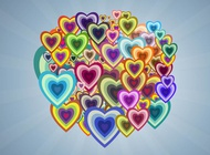 Link toMulticolored hearts vector free