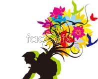 Link toMulticolored petal bicycle vector