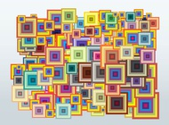 Multicolored squares vector free
