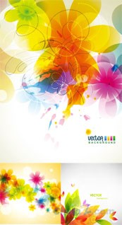 Link toMulticolour floral background vector