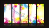 Link toMulticolour pattern panels vector templates